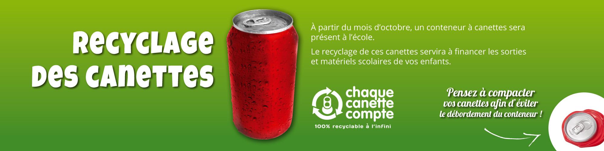 Recyclage des canettes
